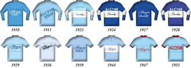 alcyon team jerseys through history